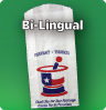 Bi-Lingual Stock Bag