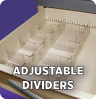 Adjustable Metal Drawer Divider & Plastic Sub Divider (Lg & Misc Drawers)