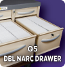 Q5 Double Narcotic Drawer
