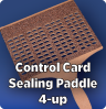 Sealing Paddle, UNI Control Card 4-up