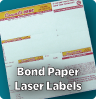 Sheeted Laser Bond Paper Labels