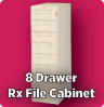8 Drawer Rx File Cabinet