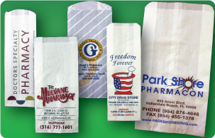 Our Prescription Gusset Bags Are Made From The Finest Machine Glaze Paper Available To Hold Vials Bottles Ovals Etc Magazine Style Bag Is